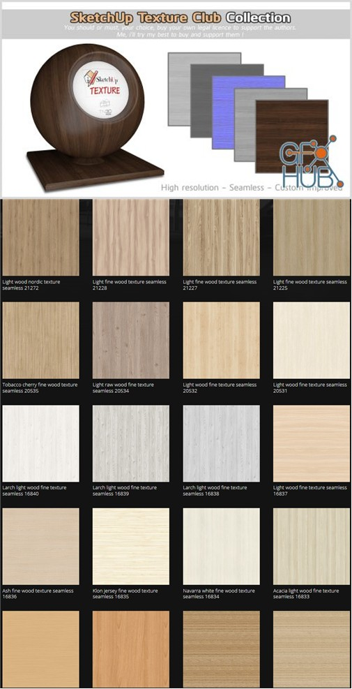 Sketchup Texture Club Collection Woods