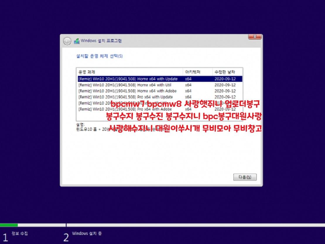 윈도 10 20H1 [19041.508] 6in1 64비트