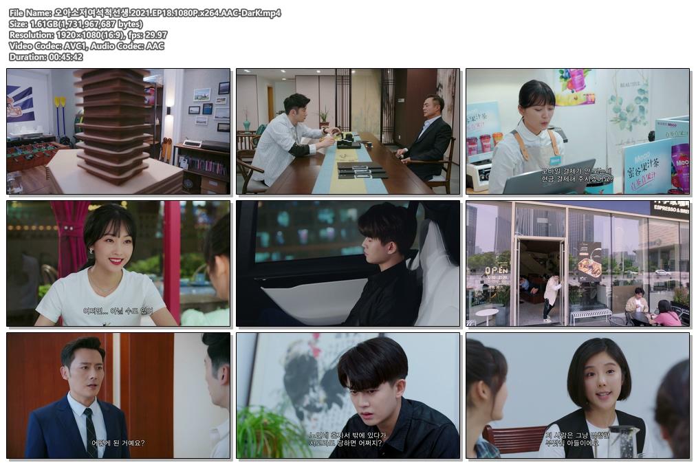 <b>[DarK][신작]오아소저여석척선생(2021) 18~19화 1080P 형비,임가륜</b>